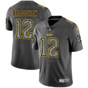 Wholesale Cheap Nike Steelers #12 Terry Bradshaw Gray Static Men's Stitched NFL Vapor Untouchable Limited Jersey