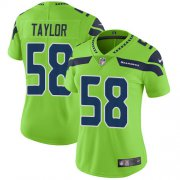 Wholesale Cheap Nike Seahawks #58 Darrell Taylor Green Women's Stitched NFL Limited Rush Jersey
