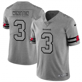 Wholesale Cheap Tampa Bay Buccaneers #3 Jameis Winston Men\'s Nike Gray Gridiron II Vapor Untouchable Limited NFL Jersey