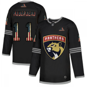 Wholesale Cheap Florida Panthers #11 Jonathan Huberdeau Adidas Men's Black USA Flag Limited NHL Jersey