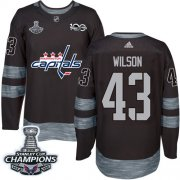 Wholesale Cheap Adidas Capitals #43 Tom Wilson Black 1917-2017 100th Anniversary Stanley Cup Final Champions Stitched NHL Jersey