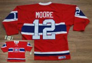 Wholesale Cheap Canadiens #12 Dominic Moore Stitched Red CH CCM Throwback NHL Jersey
