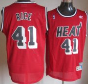 Wholesale Cheap Miami Heat #41 Glen Rice Red Swingman Throwback Jersey