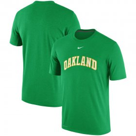 Wholesale Cheap Oakland Athletics Nike Batting Practice Logo Legend Performance T-Shirt Gree