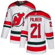 Wholesale Cheap Adidas Devils #21 Kyle Palmieri White Alternate Authentic Stitched NHL Jersey