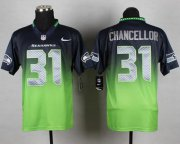 Wholesale Cheap Nike Seahawks #31 Kam Chancellor Steel Blue/Green Men's Stitched NFL Elite Fadeaway Fashion Jersey