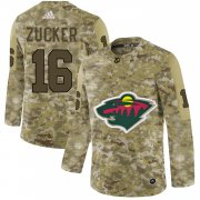 Wholesale Cheap Adidas Wild #16 Jason Zucker Camo Authentic Stitched NHL Jersey