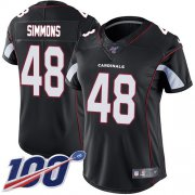 Wholesale Cheap Nike Cardinals #48 Isaiah Simmons Black Alternate Women's Stitched NFL 100th Season Vapor Untouchable Limited Jersey