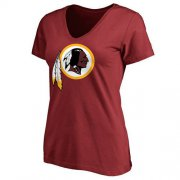 Wholesale Cheap Women's Washington Redskins Pro Line Primary Team Logo Slim Fit T-Shirt Red