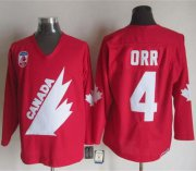 Wholesale Cheap Olympic 1991 CA. #4 Bobby Orr Red CCM Throwback Stitched NHL Jersey