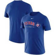 Wholesale Cheap Texas Rangers Nike MLB Team Logo Practice T-Shirt Royal