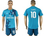 Wholesale Cheap Real Madrid #10 James Sec Away Soccer Club Jersey
