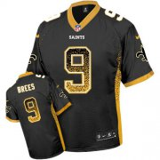 Wholesale Cheap Nike Saints #9 Drew Brees Black Team Color Youth Stitched NFL Elite Drift Fashion Jersey