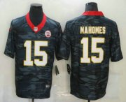 Wholesale Cheap Men's Kansas City Chiefs #15 Patrick Mahomes 2020 Camo Limited Stitched Nike NFL Jersey