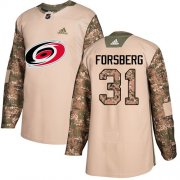 Wholesale Cheap Adidas Hurricanes #31 Anton Forsberg Camo Authentic 2017 Veterans Day Stitched Youth NHL Jersey