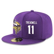 Wholesale Cheap Minnesota Vikings #11 Laquon Treadwell Snapback Cap NFL Player Purple with White Number Stitched Hat