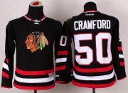 Wholesale Cheap Blackhawks #50 Corey Crawford Black 2014 Stadium Series Stitched Youth NHL Jersey
