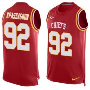 Wholesale Cheap Nike Chiefs #92 Tanoh Kpassagnon Red Team Color Men's Stitched NFL Limited Tank Top Jersey