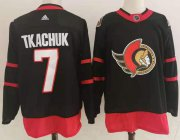 Wholesale Cheap Men's Ottawa Senators #7 Brady Tkachuk Black Adidas 2020-21 Stitched NHL Jersey