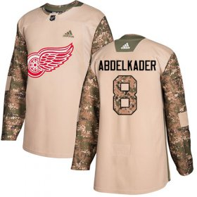 Wholesale Cheap Adidas Red Wings #8 Justin Abdelkader Camo Authentic 2017 Veterans Day Stitched Youth NHL Jersey
