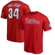 Wholesale Cheap Philadelphia Phillies #34 Roy Halladay 2019 Hall of Fame Name & Number T-Shirt Red