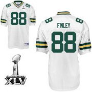 Wholesale Cheap Packers #88 Jermichael Finley White Super Bowl XLV Stitched NFL Jersey