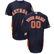 Wholesale Cheap Houston Astros Majestic Alternate Authentic Collection Flex Base Custom Jersey Navy