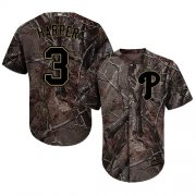 Wholesale Cheap Phillies #3 Bryce Harper Camo Realtree Collection Cool Base Stitched Youth MLB Jersey