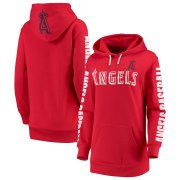 Wholesale Cheap Los Angeles Angels G-III 4Her by Carl Banks Women's Extra Innings Pullover Hoodie Red