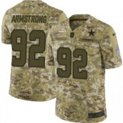 Wholesale Cheap Nike Cowboys #92 Dorance Armstrong Camo Men's Stitched NFL Limited 2018 Salute To Service Jersey