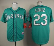 Wholesale Cheap Mariners #23 Nelson Cruz Green Cool Base Stitched MLB Jersey