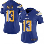 Wholesale Cheap Nike Chargers #13 Keenan Allen Electric Blue Women's Stitched NFL Limited Rush Jersey