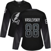 Wholesale Cheap Adidas Lightning #88 Andrei Vasilevskiy Black Alternate Authentic Women's Stitched NHL Jersey