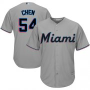 Wholesale Cheap Marlins #54 Wei-Yin Chen Grey Cool Base Stitched Youth MLB Jersey
