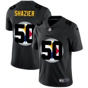 Wholesale Cheap Pittsburgh Steelers #50 Ryan Shazier Men's Nike Team Logo Dual Overlap Limited NFL Jersey Black