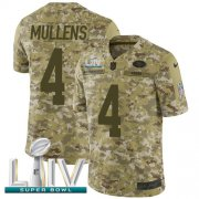 Wholesale Cheap Nike 49ers #4 Nick Mullens Camo Super Bowl LIV 2020 Men's Stitched NFL Limited 2018 Salute To Service Jersey