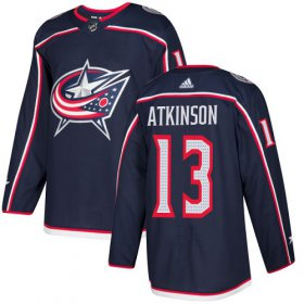 Wholesale Cheap Adidas Blue Jackets #13 Cam Atkinson Navy Blue Home Authentic Stitched Youth NHL Jersey