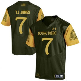 Wholesale Cheap Notre Dame Fighting Irish 7 TJ Jones Olive Green College Football Jersey