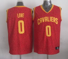 Wholesale Cheap Cleveland Cavaliers #0 Kevin Love Red Leopard Print Fashion Jersey