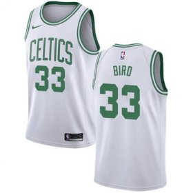 Wholesale Cheap Celtics #33 Larry Bird White Basketball Swingman Association Edition Jersey