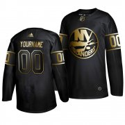 Wholesale Cheap Adidas Islanders Custom Men's 2019 Black Golden Edition Authentic Stitched NHL Jersey