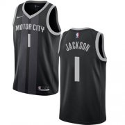 Wholesale Cheap Nike Pistons #1 Reggie Jackson Black NBA Swingman City Edition Jersey