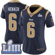 Wholesale Cheap Nike Rams #6 Johnny Hekker Navy Blue Team Color Super Bowl LIII Bound Women's Stitched NFL Vapor Untouchable Limited Jersey