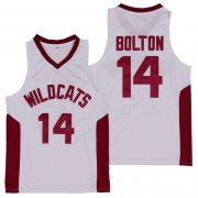 Wholesale Cheap Wildcats #14 Troy Bolton High School White Soul Swingman Basketball Jersey