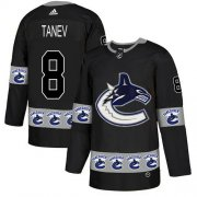 Wholesale Cheap Adidas Canucks #8 Christopher Tanev Black Authentic Team Logo Fashion Stitched NHL Jersey