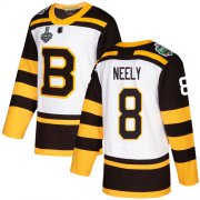 Wholesale Cheap Adidas Bruins #8 Cam Neely White Authentic 2019 Winter Classic Stanley Cup Final Bound Youth Stitched NHL Jersey