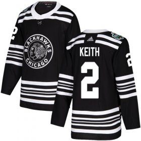 Wholesale Cheap Adidas Blackhawks #2 Duncan Keith Black Authentic 2019 Winter Classic Stitched Youth NHL Jersey