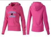 Wholesale Cheap Women's Carolina Panthers Heart & Soul Pullover Hoodie Pink
