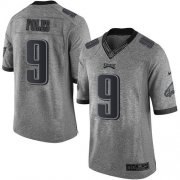 Wholesale Cheap Nike Eagles #9 Nick Foles Gray Men's Stitched NFL Limited Gridiron Gray Jersey