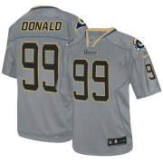 Wholesale Cheap Nike Rams #99 Aaron Donald Lights Out Grey Men's Stitched NFL Elite Jersey